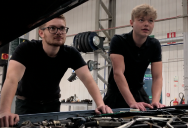 Young people in Bridgnorth restoring classic cars